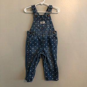 OshKosh toddler girl denim overalls